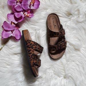 Shoes - RESTOCK 🐆 Leopard Print Double Strap Sandals
